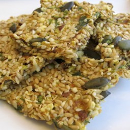 Almond and Pumpkin Seed Crackers