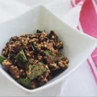 Chocolate/kale granola